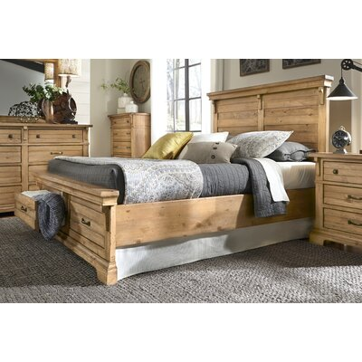 Progressive Furniture Inc. Chestnut Hill Panel with Storage Customizable Bedroom Set