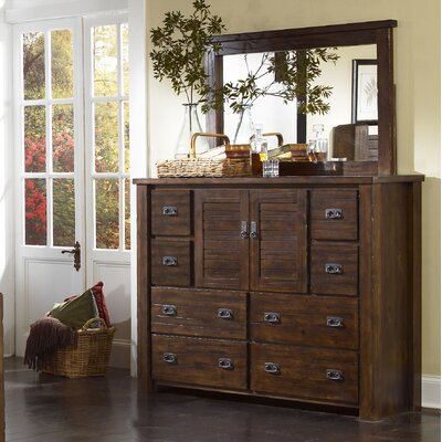 Loon Peak Bison Ridge 8 Drawer Combo Dresser with Mirror