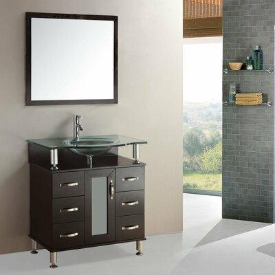 "Kokols 24 Bathroom Vanity Set kokols 36"" single bathroom vanity set with mirror & reviews   wayfair"