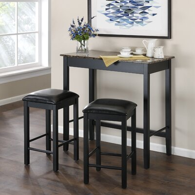 Dorel Living Devyn 3 Piece Dining Set