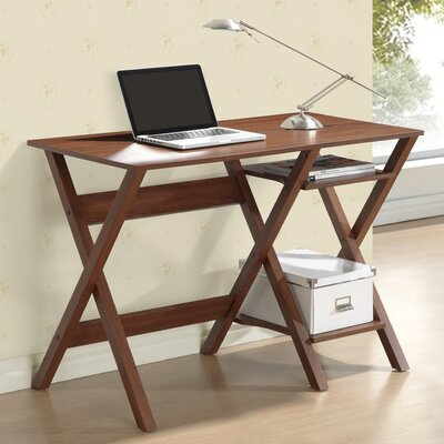 Techni Mobili Writing Desk with Side Shelves