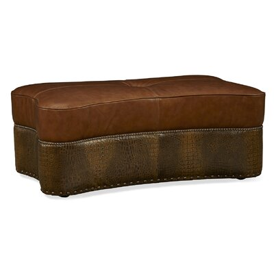 Palatial Furniture Kasey Leather Cocktail Ottoman