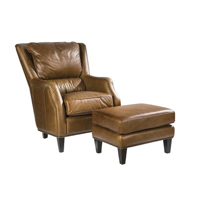 Palatial Furniture Scottsdale Leather Ottoman