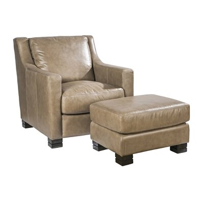 Palatial Furniture Colby Leather Ottoman Image