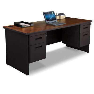 Marvel Office Furniture Pronto Double Pedestal Executive Desk with Lock