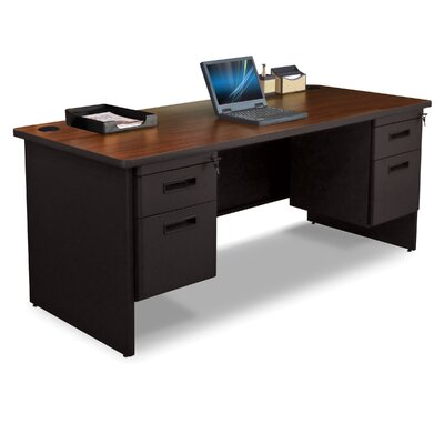 Marvel Office Furniture Pronto Executive Desk with Box / File and Double File