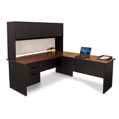 Marvel Office Furniture Pronto L-Shape Executive Desk and Lock