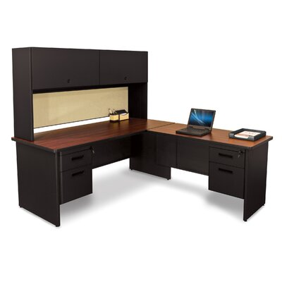 Marvel Office Furniture Pronto L-Shape Executive Desk with Return and Pedestal
