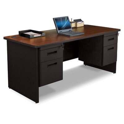 Marvel Office Furniture Pronto Double Pedestal and Box / File Executive Desk