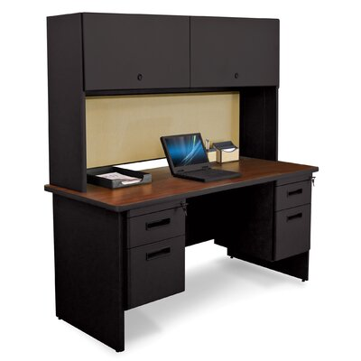 Marvel Office Furniture Pronto Double File and Flipper Door Cabinet Executive Desk