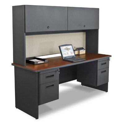 Marvel Office Furniture Pronto Executive Desk with 4 Drawers and Door