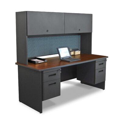 Marvel Office Furniture Pronto Double Pedestal Executive Desk with Flipper Door Cabinet