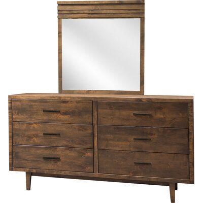 Loon Peak Calmar 6 Drawer Dresser with Mirror