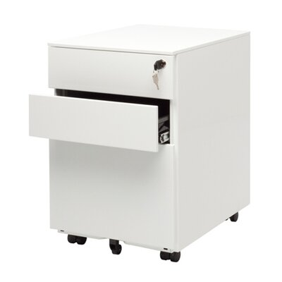 Blu Dot Office 3 Drawer Mobile File Cabinet