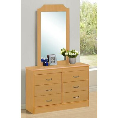 Hodedah 6 Drawer Dresser