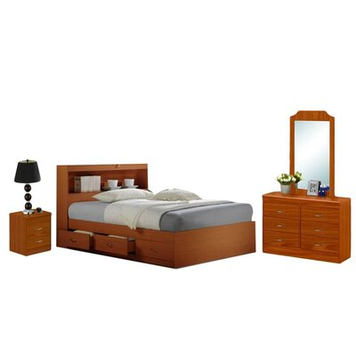 Hodedah Platform  4 Piece Bedroom Set
