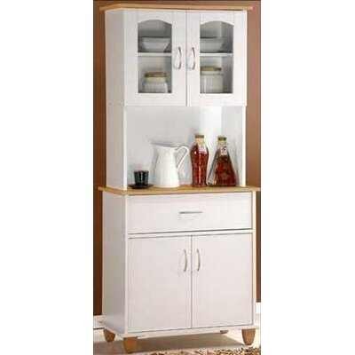 Hodedah Kitchen Island China Cabinet