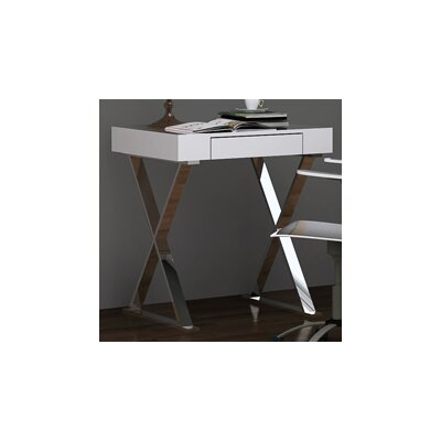 Whiteline Imports Elm Writing Desk with Drawer