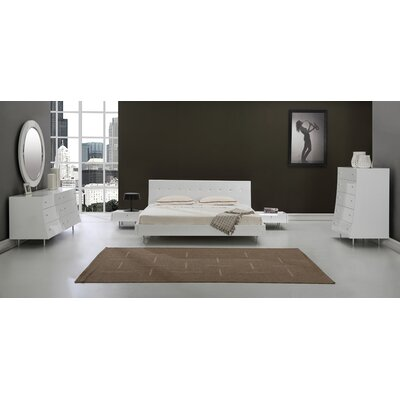 Whiteline Imports Concavo Platform Customizable Bedroom Set