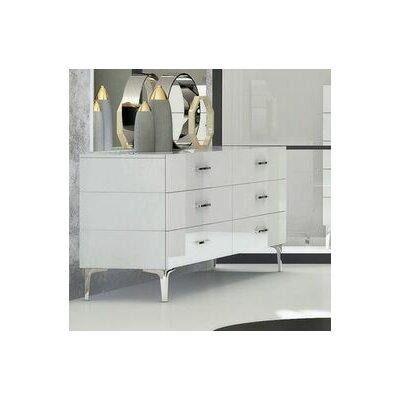 Whiteline Imports Diva 6 Drawer Dresser