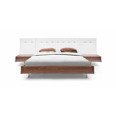 Whiteline Imports Concavo Upholstered Platform Bed