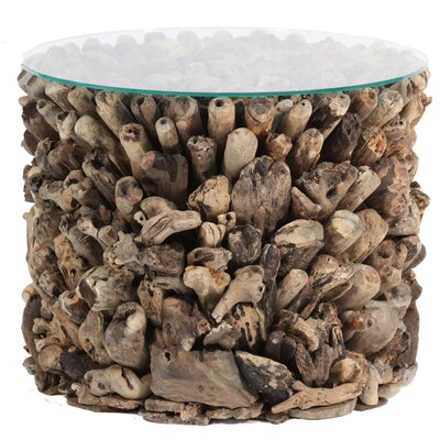 Ibolili Round Driftwood End Table