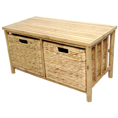 Heather Ann Creations Bamboo Storage Bench