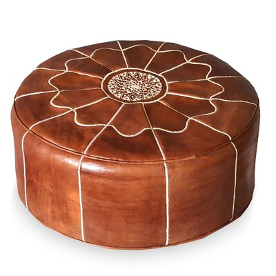 Ikram Design Giant Moroccan Leather Pouf Ottoman