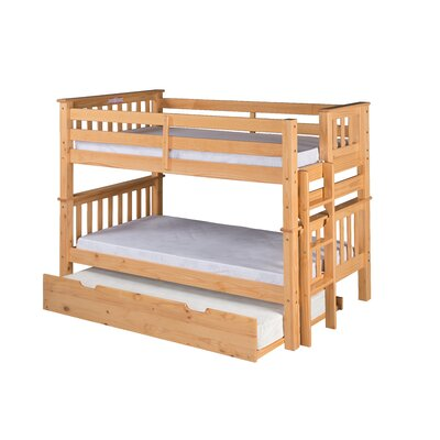 Camaflexi Santa Fe Mission Twin Bunk Bed with Trundle