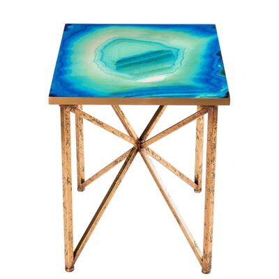 Statements by J Bleu Agate End Table