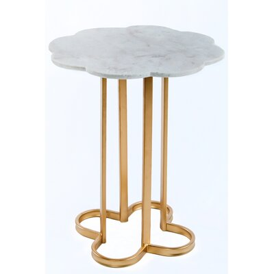 Statements by J Caroline Marble Side Table