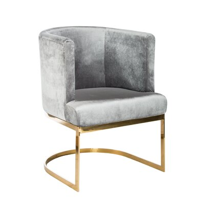 Statements by J Hazel Gold Chrome Chair (Set..
