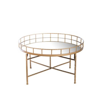 Statements by J Ariella Mirrored Coffee Table