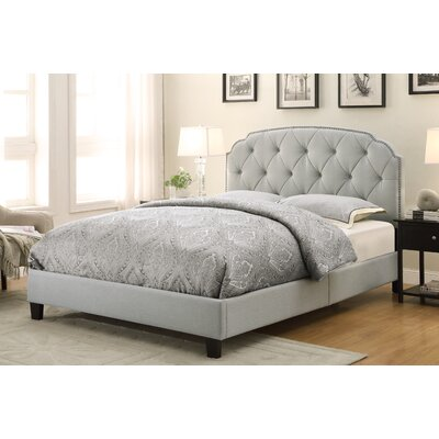 Charlton Home Queen Upholstered Panel Bed