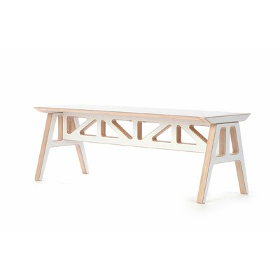 Context Furniture Truss A Frame Birch Bench