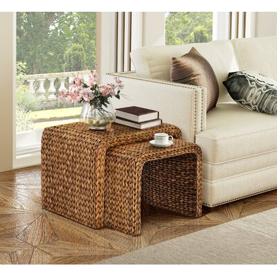 Gallerie Decor Bali Breeze 2 Piece Nesting Tables