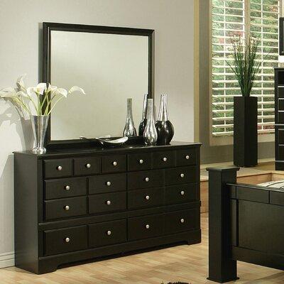 Sandberg Furniture Elena 6 Drawer Dresser with Mirror