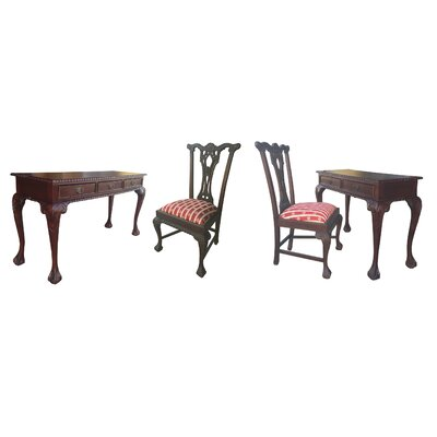 D-Art Collection England Writing Desk with Chair Set
