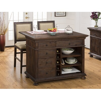 Three Posts Addison Avenue 3 Piece Kitchen Island Set