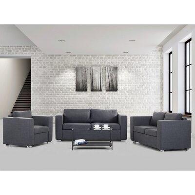 Brayden Studio Fray 3 Piece Living Room Set
