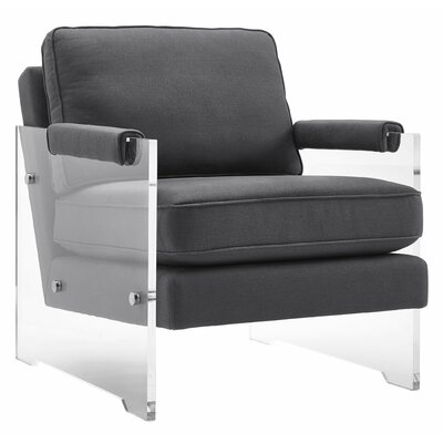 Mercer41 Dore Floating Lucite Arm Chair