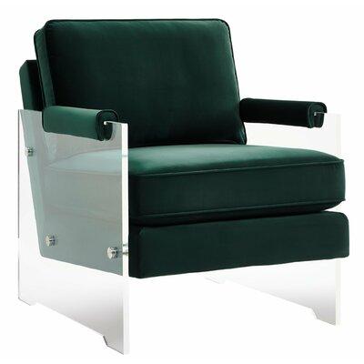 Mercer41 Dore Velvet/Lucite Arm Chair