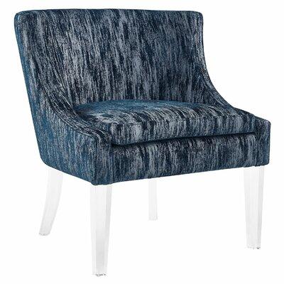 Mercer41 Loren Textured Velvet Club Chair