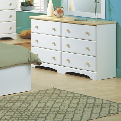 South Shore Newbury 6 Drawer Double Dresser