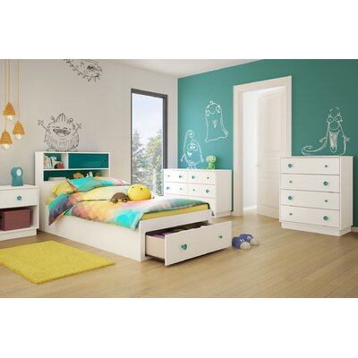 South Shore Little Monsters Twin Platform Customizable Bedroom Set