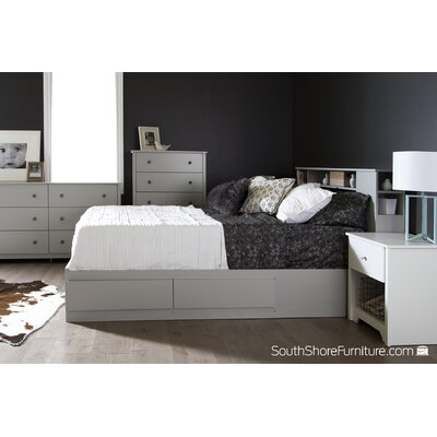 South Shore Vito Full Platform Customizable Bedroom Set