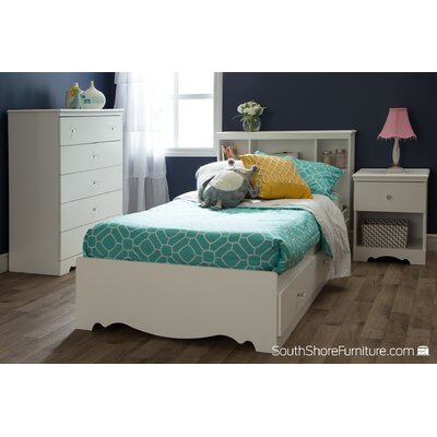 South Shore Crystal Twin Mate's Bed with Storage