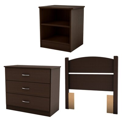 South Shore Libra Panel 3 Piece Bedroom Set