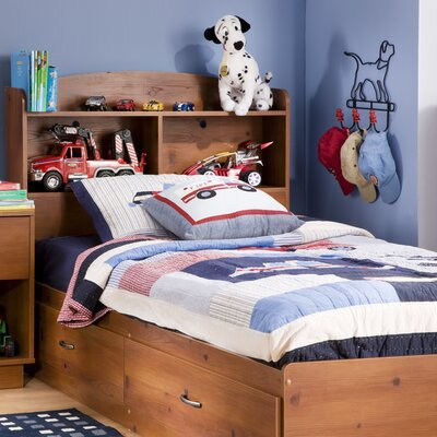 South Shore Logik Twin Mate's Bed with Stor..