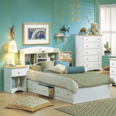 South Shore Newbury Twin Platform Customizable Bedroom Set